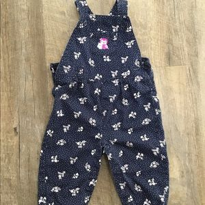 Carters 12 months owl polka dot overalls